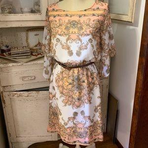 ANTONIO MELANI Beautiful Scarf Print Dress Sz 8